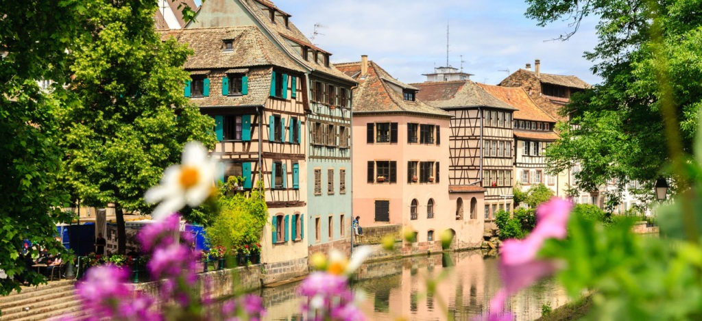 29877229 - strasbourg, water canal in petite france area.